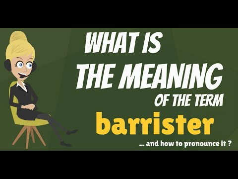 What is BARRISTER? What does BARRISTER mean? BARRISTER meaning, definition & explanation