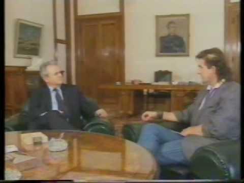 Slobodan Milosevic - first TV interview 1989 wiht Marko Josilo