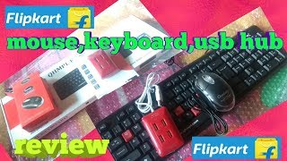 Quantum USB Mouse Keyboard amp USB 4 Port Hub Combo FLIPKART REVIEW