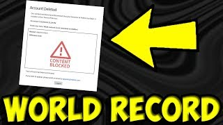 Roblox Ban Speedrun! [World Record 2019]