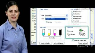 Epson Printer TX121 - How to Print Documents from the Printer