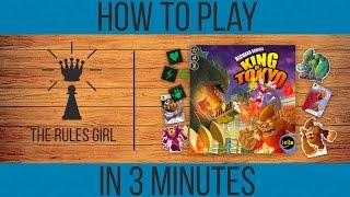 YouTube video How to Play King of Tokyo in 3 Minutes - The Rules Girl