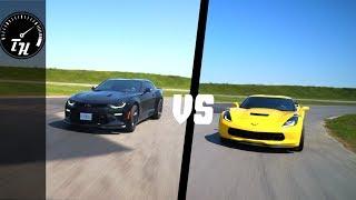 2018 Camaro SS 1LE  VS. 2018 Corvette Grand Sport TRACK TEST// Drag Race, Lap Times, Shenanigans