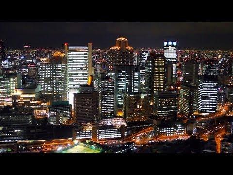 梅田スカイビルからの大阪夜景 Night View of Osaka from Umeda Sky Building Japan