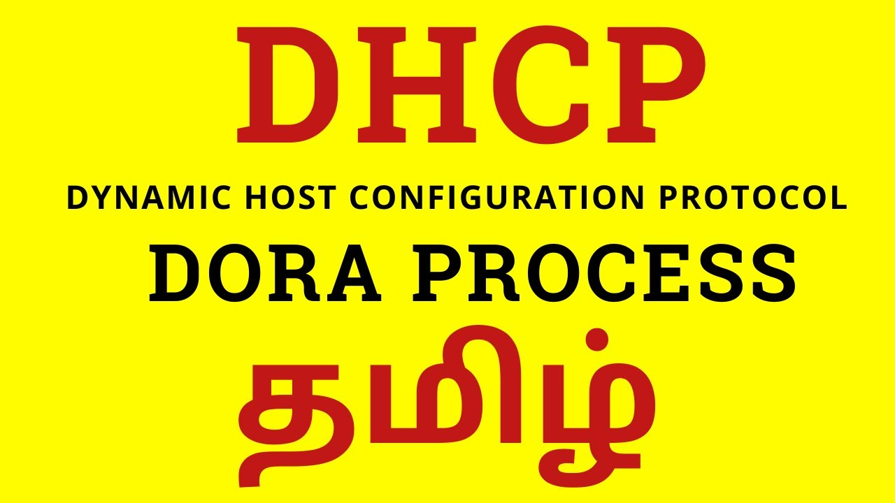 Dhcp Dora Process In Tamil Detailed Explanation Ccna Tamil Youtube
