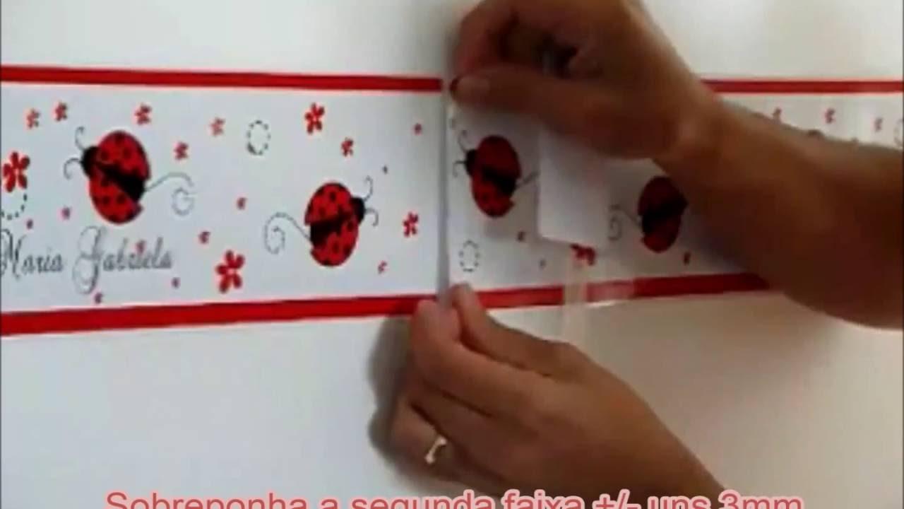 6ae6df114 Como aplicar Faixa Decorativa de Parede - YouTube
