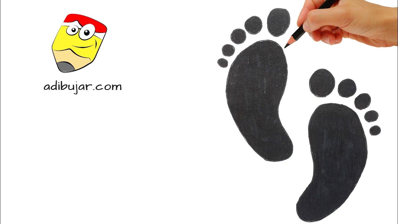 Cómo Dibujar Unas Huellas Fácil Emojis Whatsapp Paso A Paso How To Draw Footprints Emoji