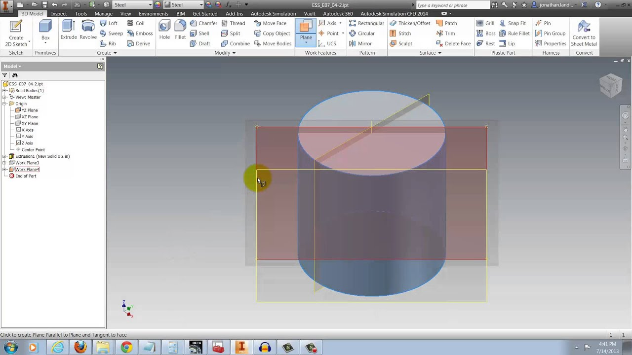 Getting The Workplane Command To Stick In Autodesk Inventor Youtube Opto Interrupter 101 Tangent Audio