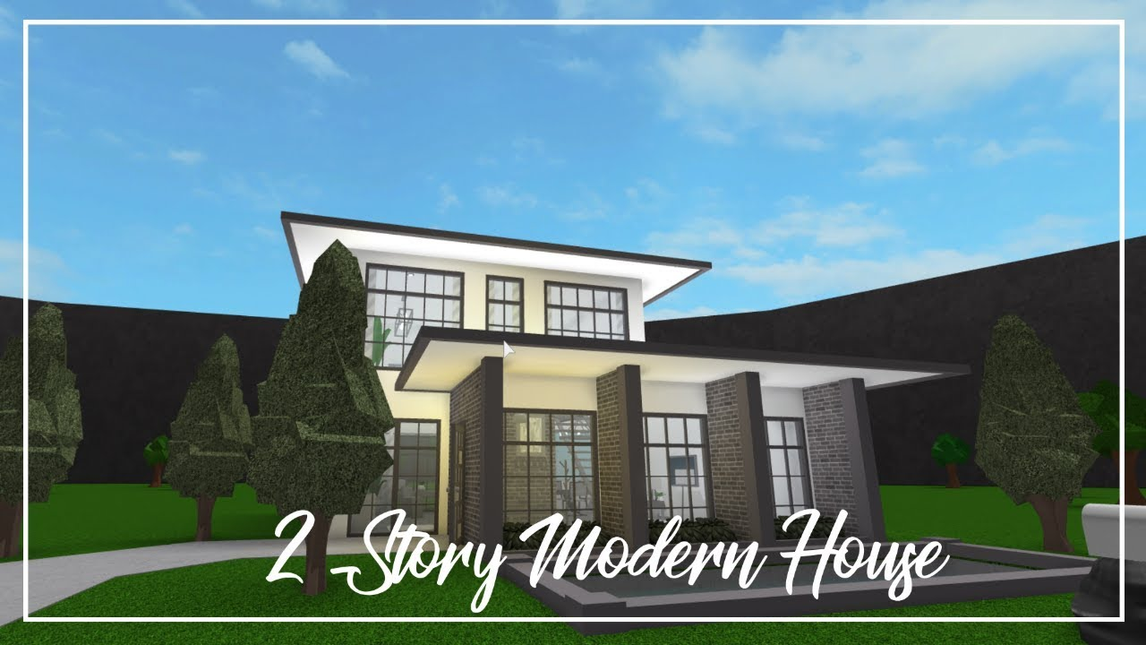 Roblox welcome to bloxburg two story modern house