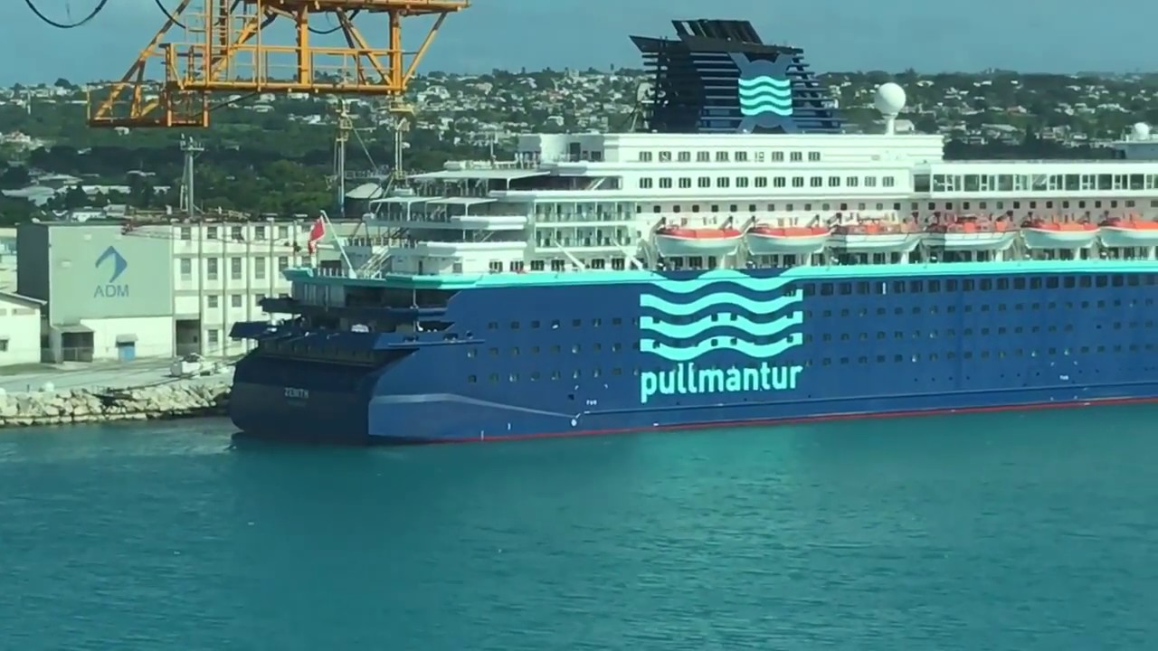 Pullmantur Zenith Cruise Ship Docked In The Caribbean YouTube - Zenith cruise ship itinerary