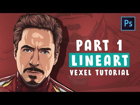 [ Photoshop Tutorial ] Vector / Vexel Art [PART 1 - LINEART ] (IRONMAN)