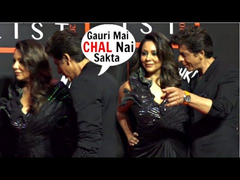 Shah Rukh Khan Very DRUNK With Gauri Khan At Vogue Nykaa Fashion