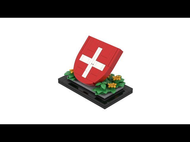 LEGO® Coat of Arms of Switzerland / Coat of Arms of the Swiss Confederation with Instructions