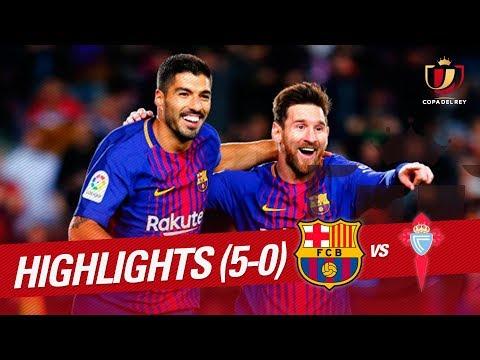 Resumen de FC Barcelona vs RC Celta (5-0)