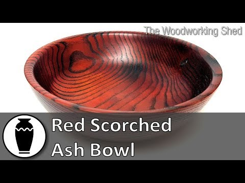 Red Scorched Ash Bowl