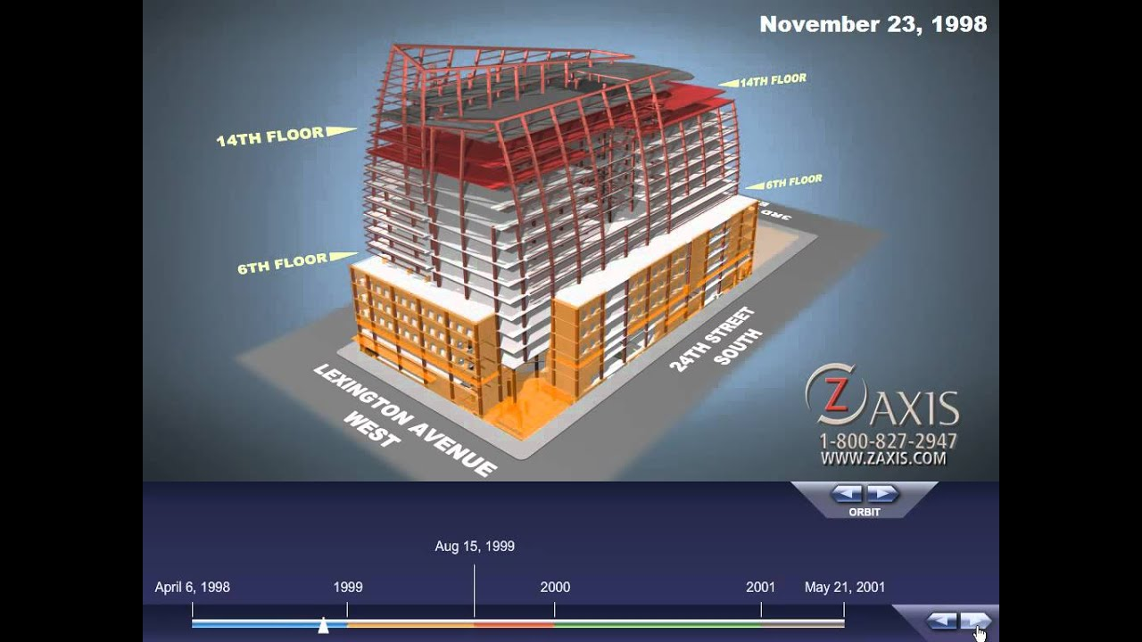 Interactive Building Construction Timelapse Animation