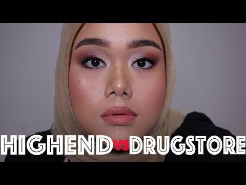 HIGHEND VS DRUGSTORE MAKEUP | FATYABIYA