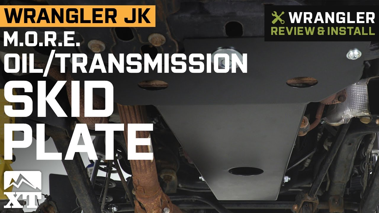 M O R E  Oil/Transmission Skid Plate (07-18 Jeep Wrangler JK)