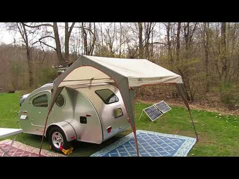 Teardrop Trailer Rain Camping
