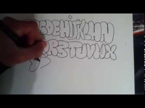 Comment dessiner un alphabet de tag avec charly youtube - Dessin de tag alphabet ...