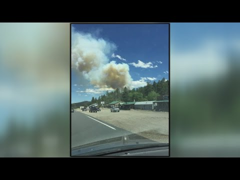Fire sparks east of Eagle Nest in Ute Park