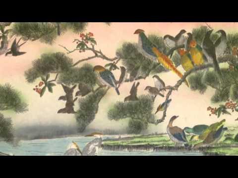 """Картина """"Сто птиц"""" (китайская живопись)"""