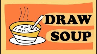 Soup Colouring Book and Drawing / How to Draw Juice for Children / Coloring for Kids