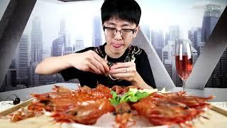 试吃世界最大牡丹虾!谁说牡丹虾刺身是最好吃的?