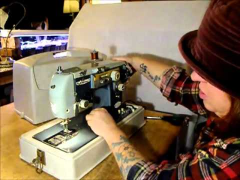 Alden manual zigzag sewing machine demonstration