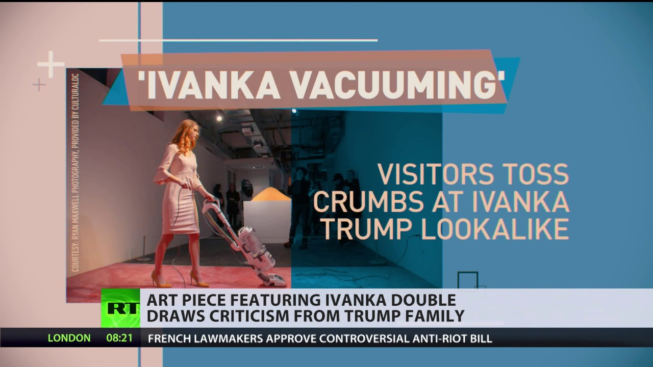Ivanka Trump responds to DC art exhibit 'Ivanka Vacuuming'
