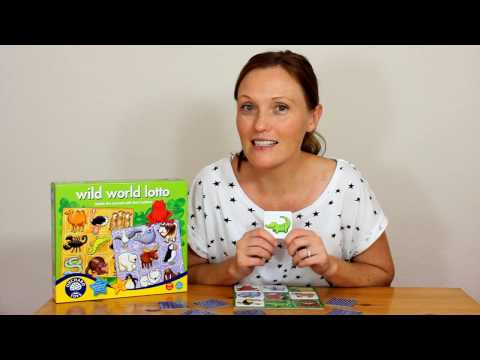 Orchard Toys: WILD WORLD LOTTO JUNGLE ANIMALS - play with Hayley!