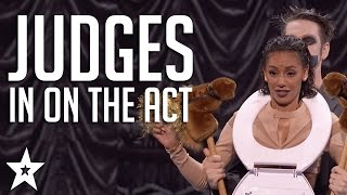 Got Talent JUDGES Get in on The Act | Including Tape Face \u0026 More!