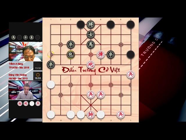 TRỀNH A SÁNG HCM VS ĐẶNG VĂN HOÀNG HÀ NỘI Cờ tướng úp vòng 4, lượt trận 2