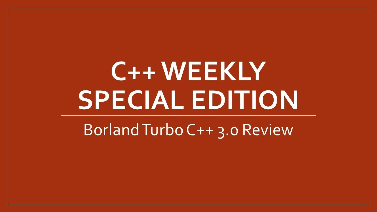 C weekly special edition borland turbo c 30 review youtube c weekly special edition borland turbo c 30 review fandeluxe Image collections