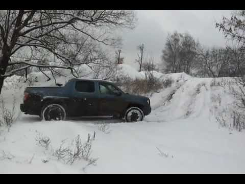 Ridgeline offroad in snow 1 - YouTube