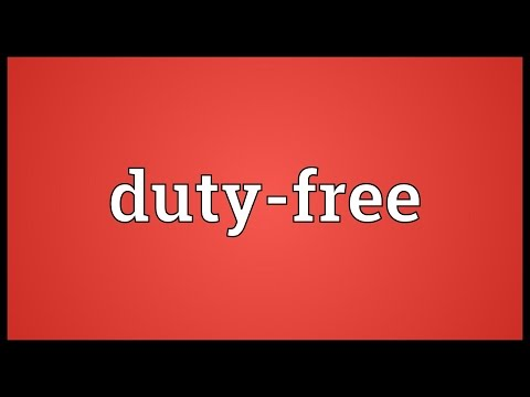 Duty-free Meaning