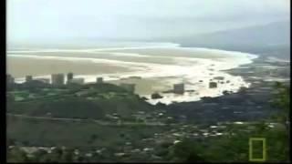 Tsunami Hawaii 2012 by landslide. Mega Tsunami