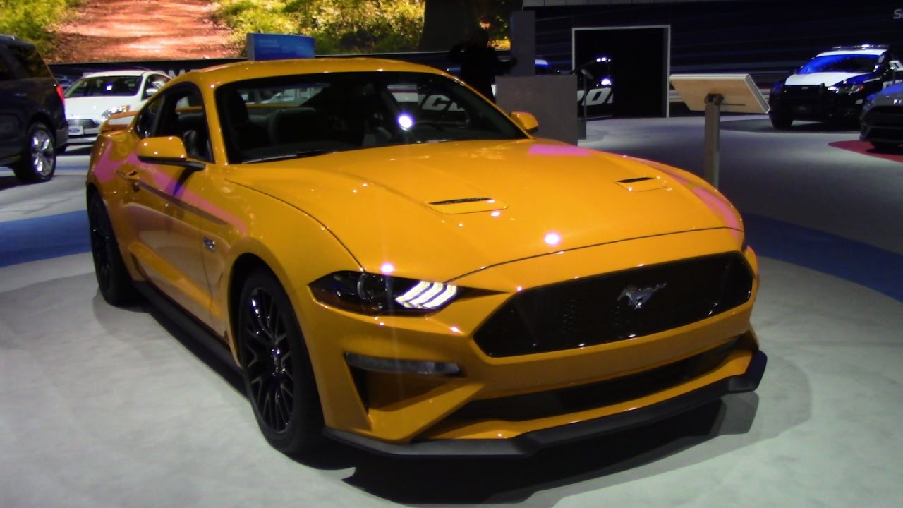 Exclusive 2018 mustang gt orange fury new york auto show 2017