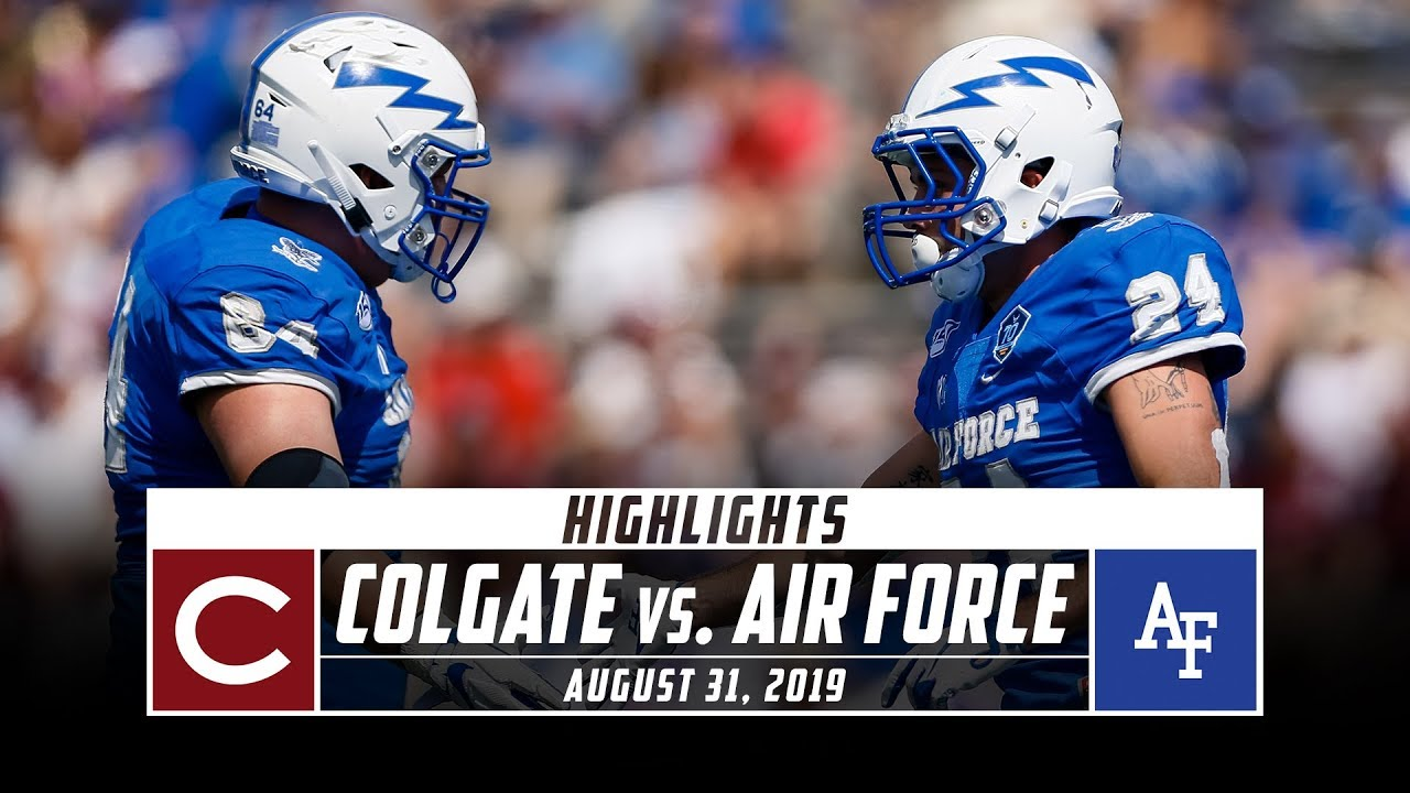 Colgate Vs Air Force Football Highlights 2019 Stadium Youtube