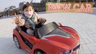 라임이가 BMW 전동 스포츠 카 어린이 자동차를 타요! 라임튜브 Lime Riding BMW Kids Sports Car Lime Tube