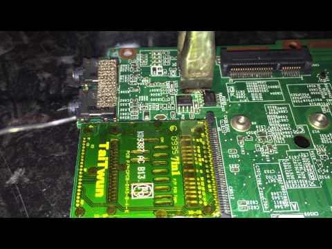 REMOVING SMD INDUCTOR FROM LAPTOP MOTHERBOARD WITH METCAL MX SMARTHEAT TALON TWEEZER WITH EASE
