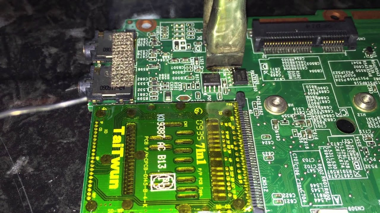 Removing Smd Inductor From Laptop Motherboard With Metcal Mx Simulated Circuit For Replacing The Passive Smartheat Talon Tweezer Ease