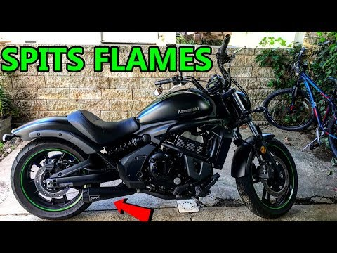 Kawasaki Vulcan S Two Brothers Racing Exhaust and Power Commander V | SPITS MAD FLAMES