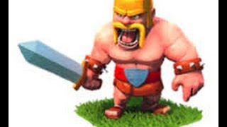Clash Of Clans raiding with 131 level 4 barbarians