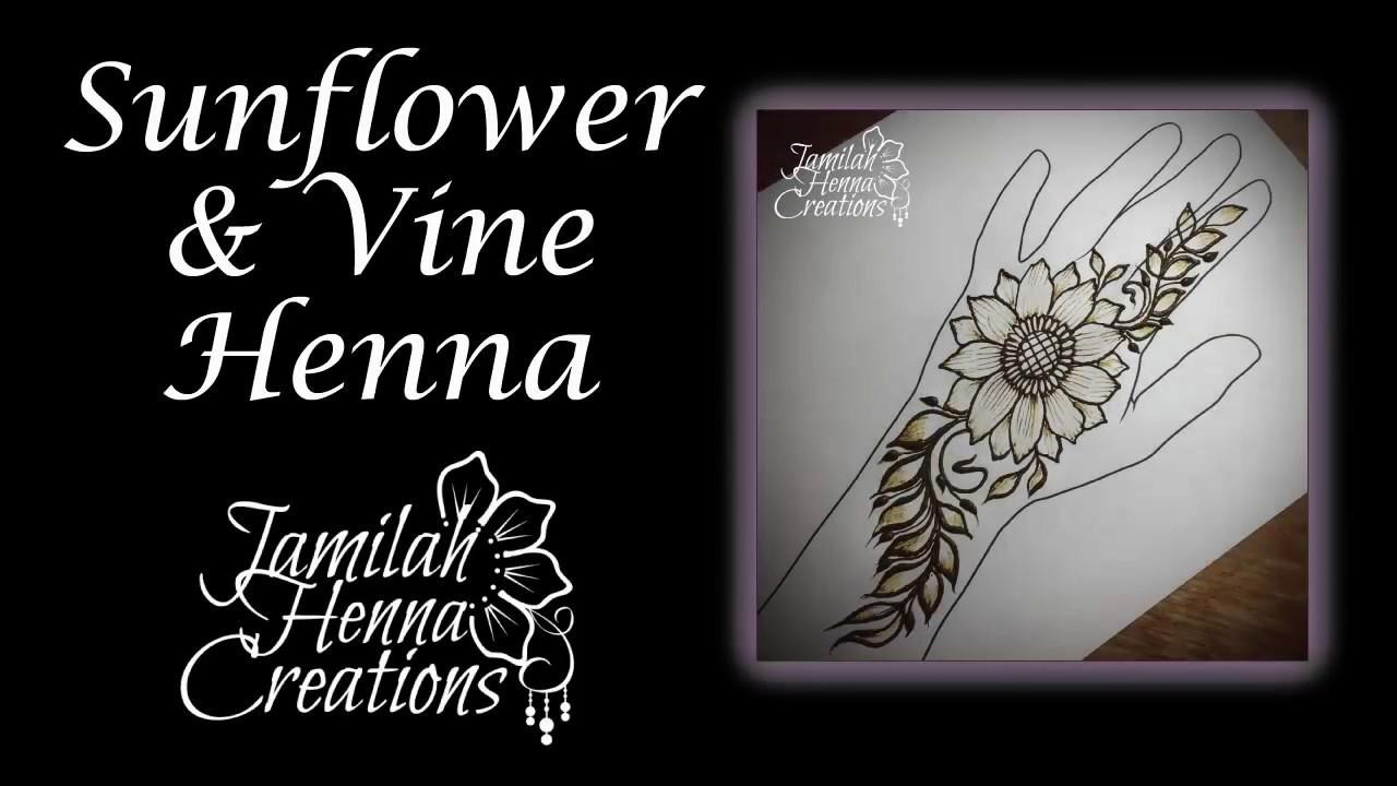 Sunflower Henna Party Design Youtube