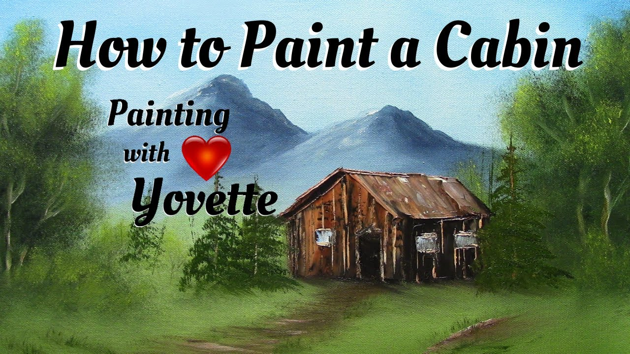 How to Paint a Simple Little Cabin Oil  YouTube