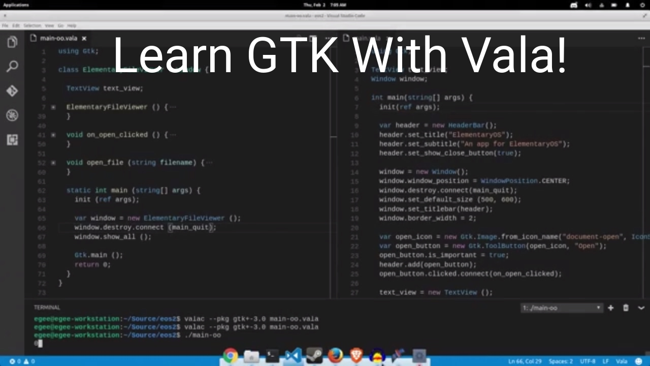 Learning about GTK apps with Vala (ElementaryOS Apps Pt 2)