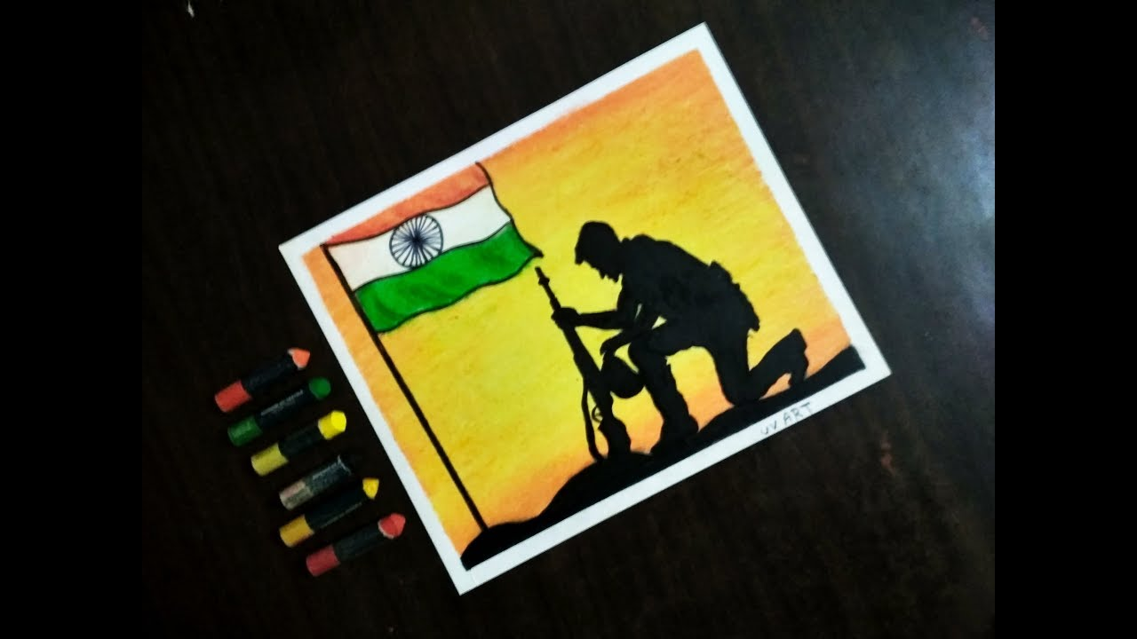 National Army Day Step By Step Drawing For Kids Beginners