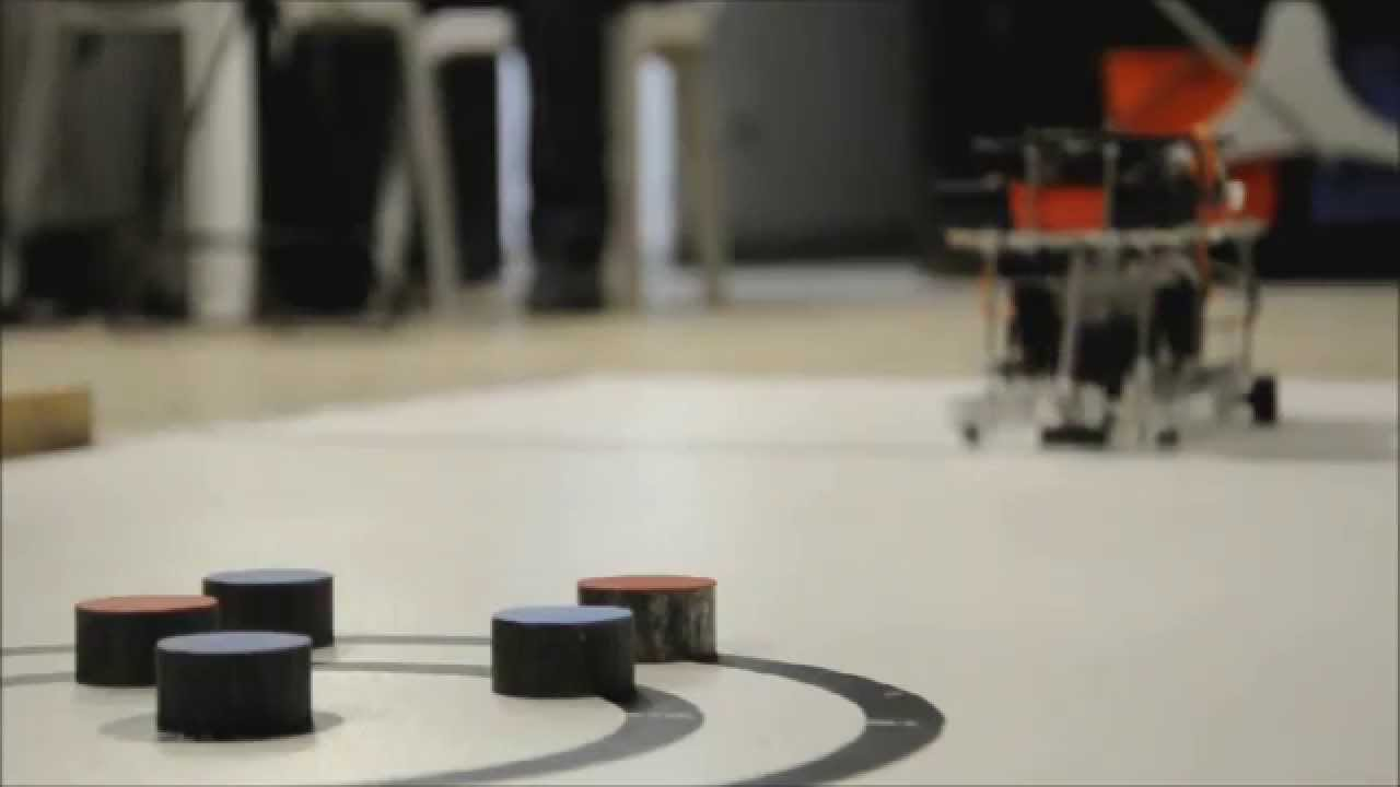 METU EE 2014 Robot Playing Curling Game Project