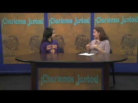 Charlemos Juntos 04-01-2015 with Katherine Herandez, student at Bates Middle School